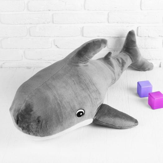 Мягкая игрушка «Акула», цвет серый, 100х64 см