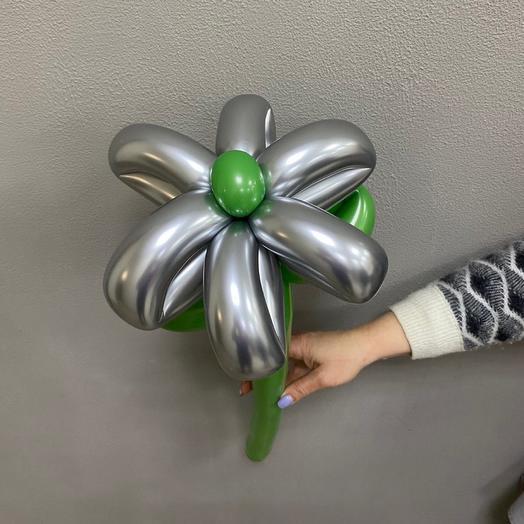 Цветы из шаров «Серебрянный хром»