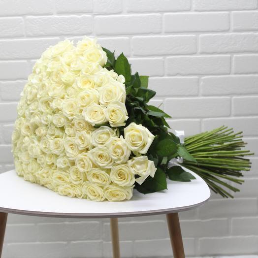 Букет из 101 розы 70см