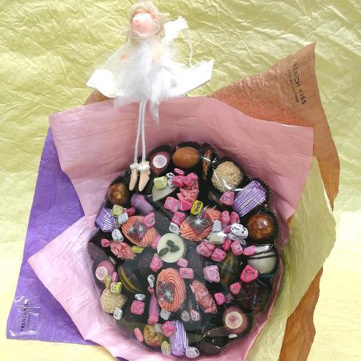 Букет из конфет ручной работы FRENCH KISS SPB 270104