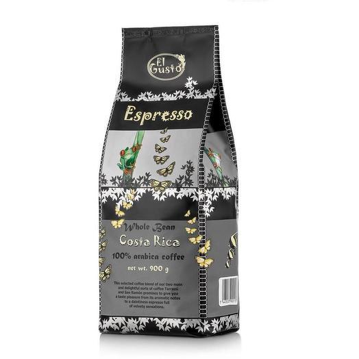 Кофе в зернах El Gusto Espresso Коста-Рика 900 грамм