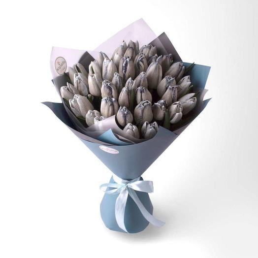 """Букет из тюльпанов """"Мagic blue"""""""