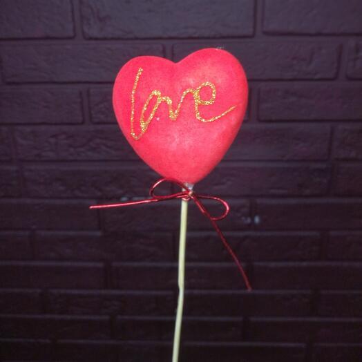 Топер «Сердце Love» красный