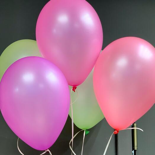 Связка цветных шаров ассорти 5 шт