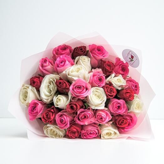 Букет из 35 роз (40см)