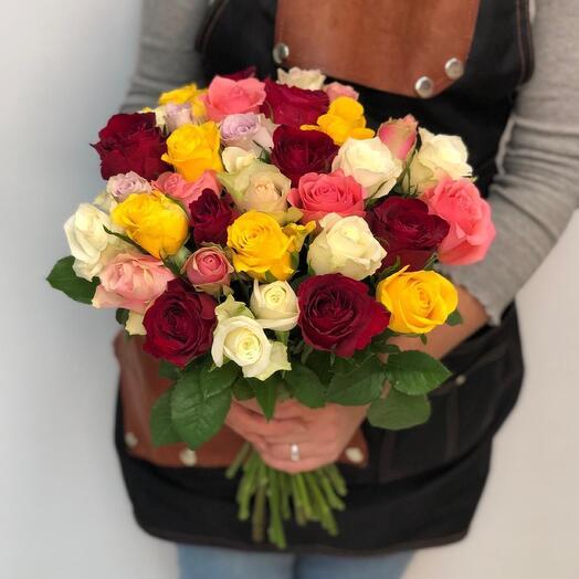 35 роз  Кения микс