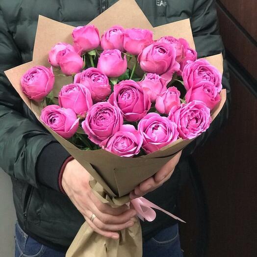 Пионовидные розы 23 шт