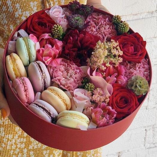 Цветы в коробке «солнце на закате»