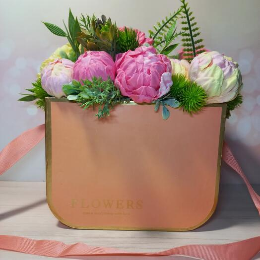 Мыльный букет ( 15 цветов)