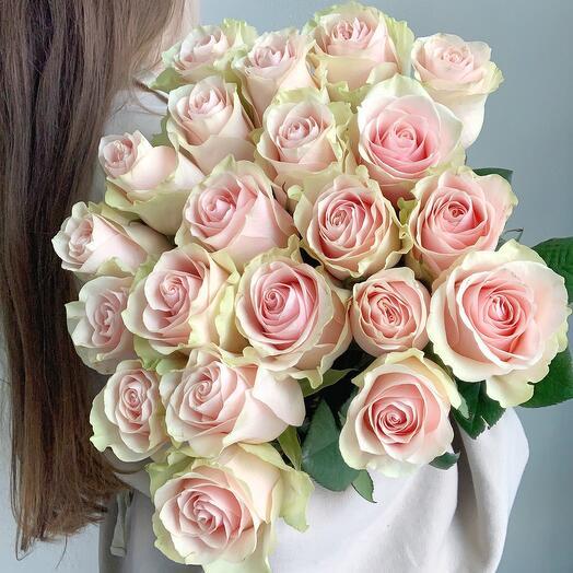 Букет  из 23 нежно-розовых роз
