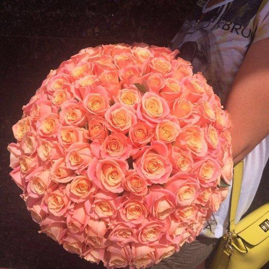 Букет 101 розы: букеты цветов на заказ Flowwow