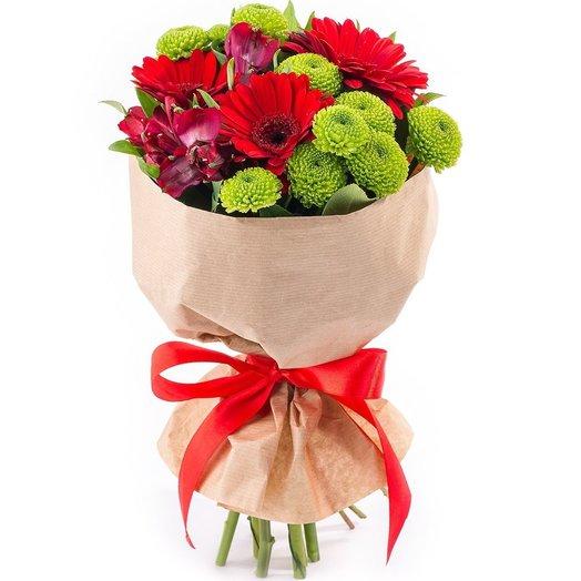 Букет из гербер Ясные дни: букеты цветов на заказ Flowwow