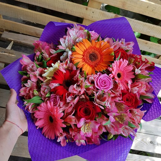 Bouquet Colorful Mix: flowers to order Flowwow