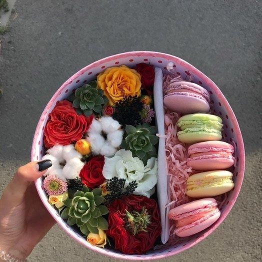 Коробка Осеннее настроение: букеты цветов на заказ Flowwow