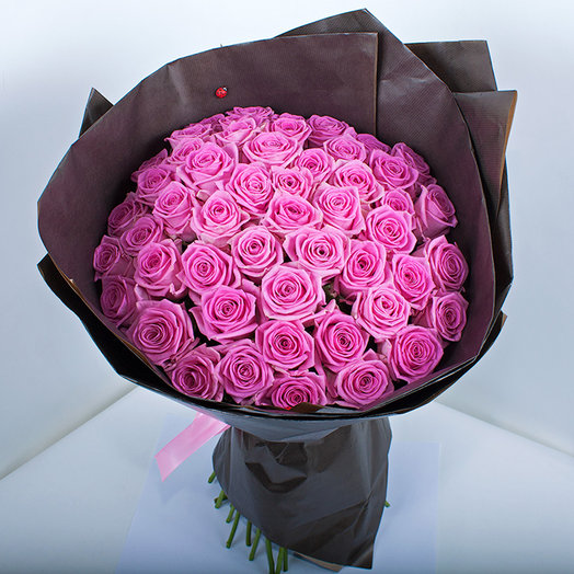 "A bouquet of 51 roses ""Aqua"""