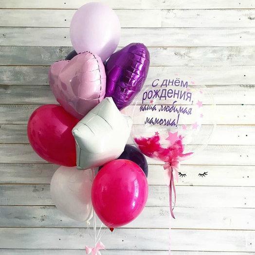 """Букет """"Изысканный"""" с баббл шаром: букеты цветов на заказ Flowwow"""