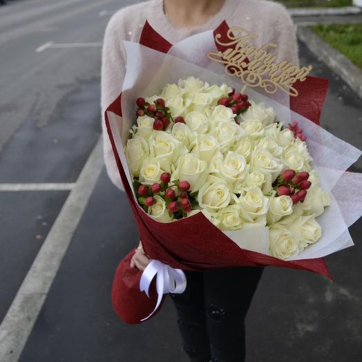 """Букет """"Маме"""" (Топпер Мамочке в подарок): букеты цветов на заказ Flowwow"""