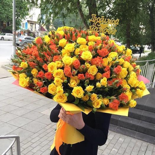 101 кустовая  роза Маме: букеты цветов на заказ Flowwow