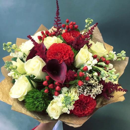 Авторский букет Merry Christmas: букеты цветов на заказ Flowwow