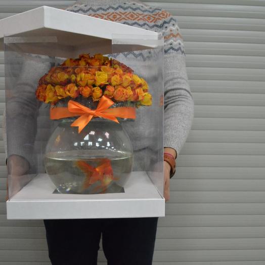 Цветы с Рыбкой: букеты цветов на заказ Flowwow