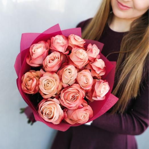 15 кенийских роз: букеты цветов на заказ Flowwow
