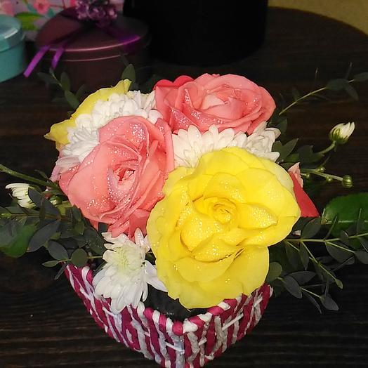 Розовое сердце: букеты цветов на заказ Flowwow
