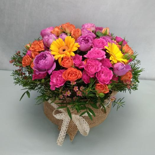 Лето в коробке: букеты цветов на заказ Flowwow