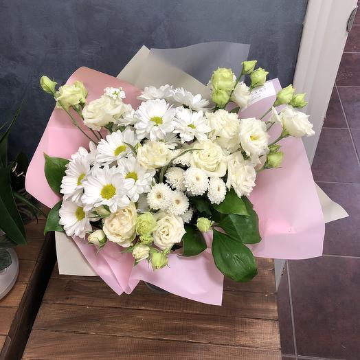 """Нежный букет белых цветов """"Ангел"""""""