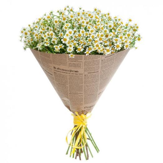 Чудесные ромашки: букеты цветов на заказ Flowwow