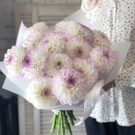 Охапка георгинов: букеты цветов на заказ Flowwow