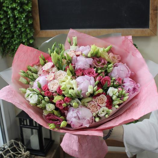 Букет с пионами. XL: букеты цветов на заказ Flowwow