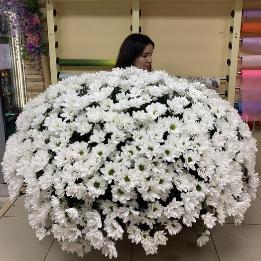 Огромная корзина ромашек: букеты цветов на заказ Flowwow