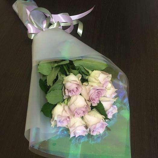 Букет из 9 Кенийских роз ( 40 см ): букеты цветов на заказ Flowwow