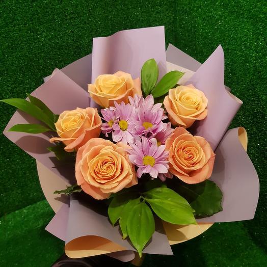 Мисс пигги в корейской бумаге: букеты цветов на заказ Flowwow