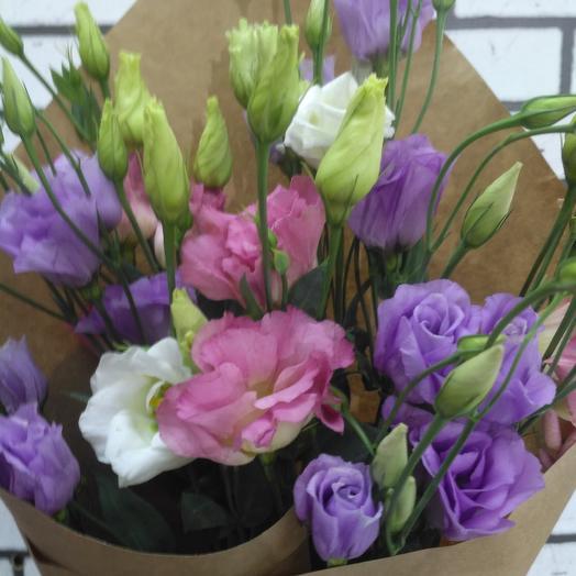 Букет лизиантусов: букеты цветов на заказ Flowwow