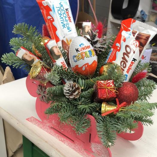 Санки Деда Мороза: букеты цветов на заказ Flowwow