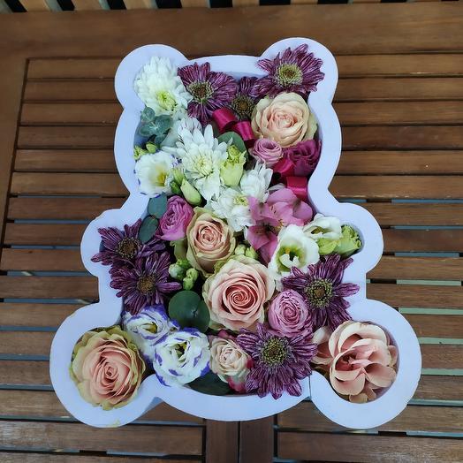 Медведь цветочный: букеты цветов на заказ Flowwow