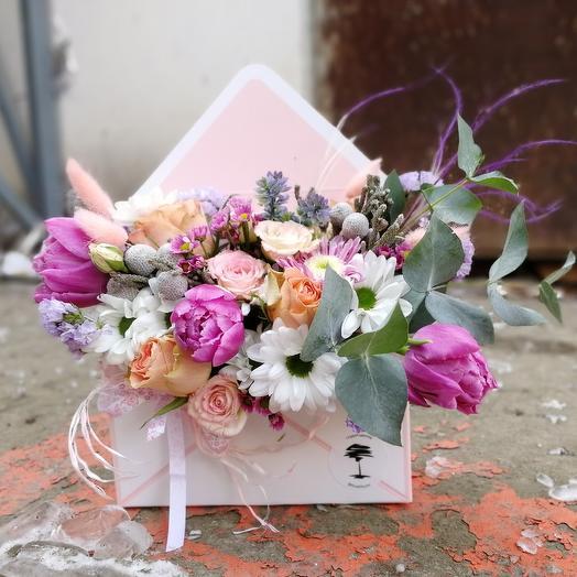 Письмо счастья: букеты цветов на заказ Flowwow
