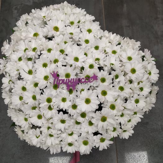 """Шикарная корзина из кустовых хризантем """"Принцессе: букеты цветов на заказ Flowwow"""