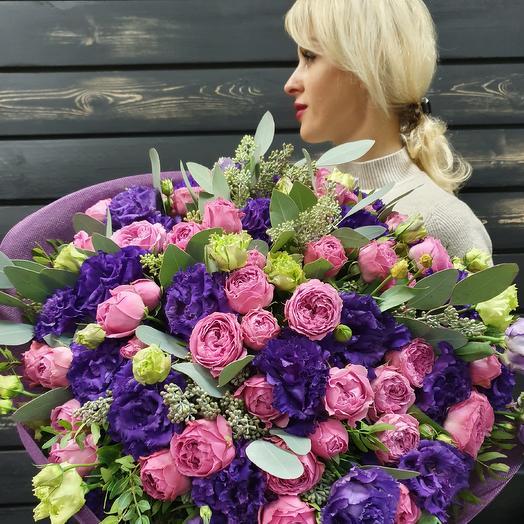 Букет розово-сиреневый: букеты цветов на заказ Flowwow