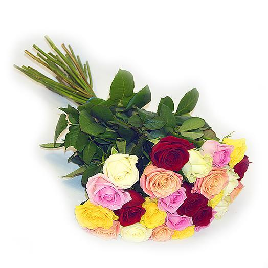 25 роз микс Эквадор: букеты цветов на заказ Flowwow