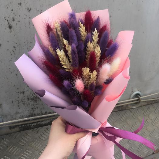 Нежность из сухоцветов: букеты цветов на заказ Flowwow