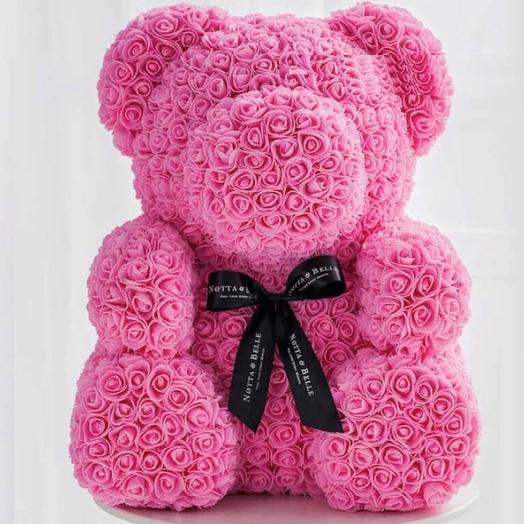 Медведь из роз 70 см: букеты цветов на заказ Flowwow