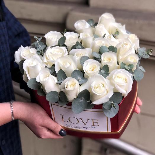 Снежное сердце: букеты цветов на заказ Flowwow