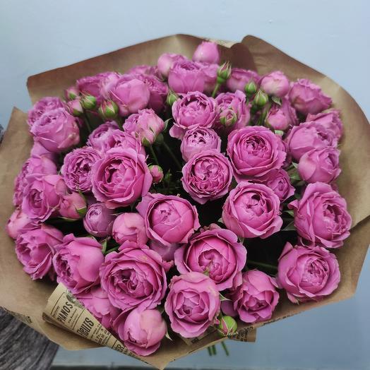 Роза кустовая пионовидная: букеты цветов на заказ Flowwow