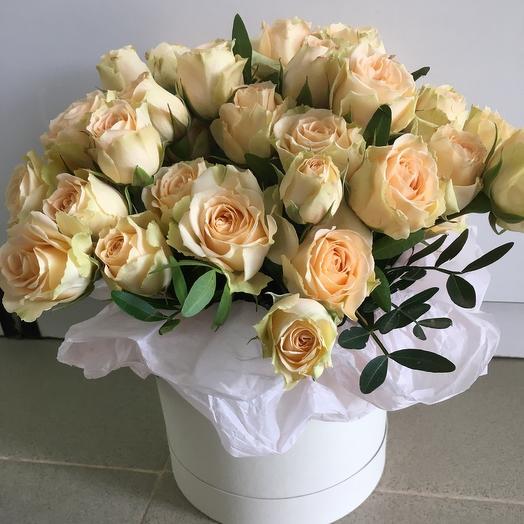 Коробка кустовые розы