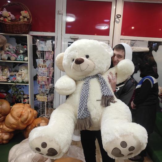 Белый мишка шарф