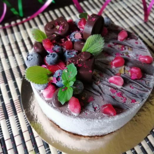 Торт Rawcake шоколад-малина
