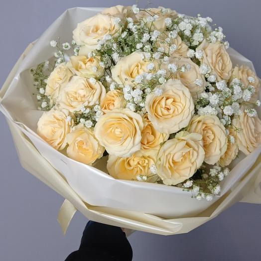 """Пломбир"" Из пионовидных роз"