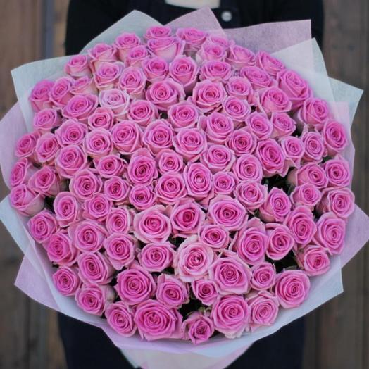 101 нежно розовая Роза